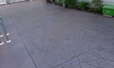 stamped concrete pool decks