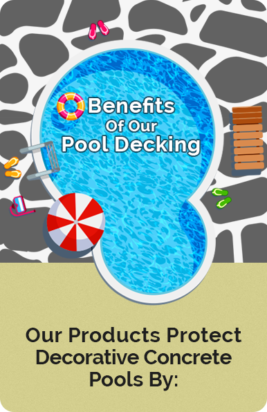 Some of the benefits of our Pool Deck Resurfacing Options (infographic)